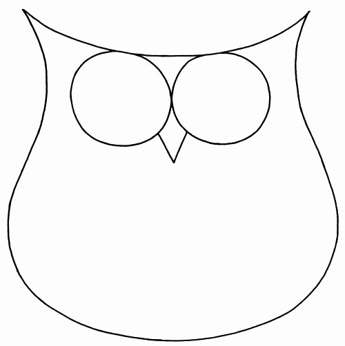 Owl Cut Out Template Fresh How to Draw An Owl Learn to Draw A Cute Colorful Owl In