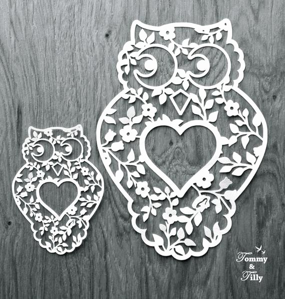 Owl Cut Out Template Lovely Owl Design Papercutting Template to Print by