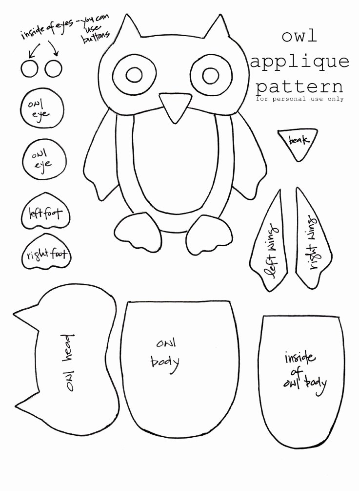Owl Cut Out Template New Best S Of Owl Pattern Template Free Printable Owl