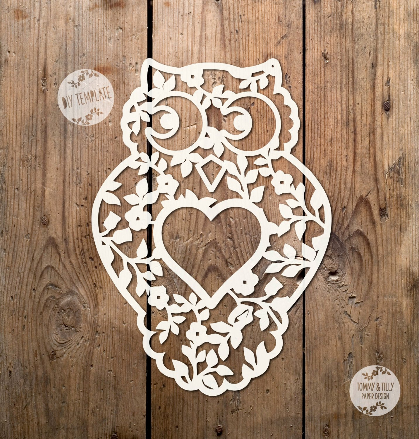 Owl Cut Out Template Unique Owl Design Svg Pdf Papercutting Vinyl Template Mercial