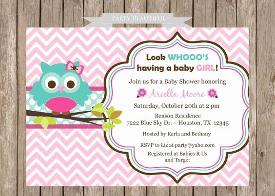 Owl Template for Baby Shower Awesome Baby Showers Babies and Shower Invitations On Pinterest