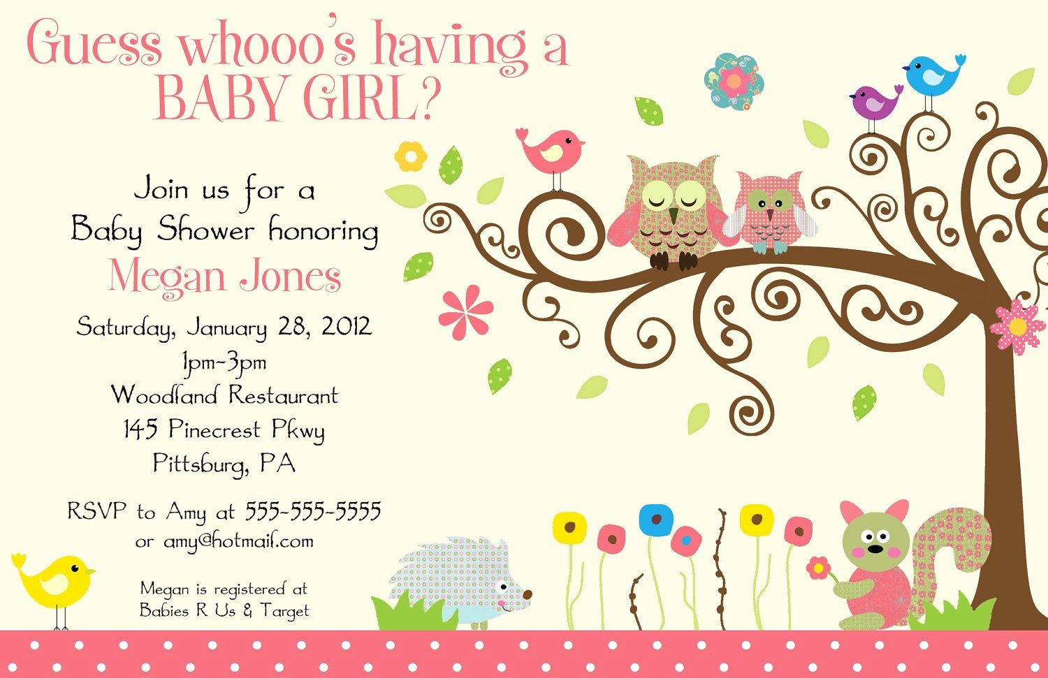 Owl Template for Baby Shower Awesome Whimsey Owl Whimsical Girl Digital Baby Shower by Bdesigns4you