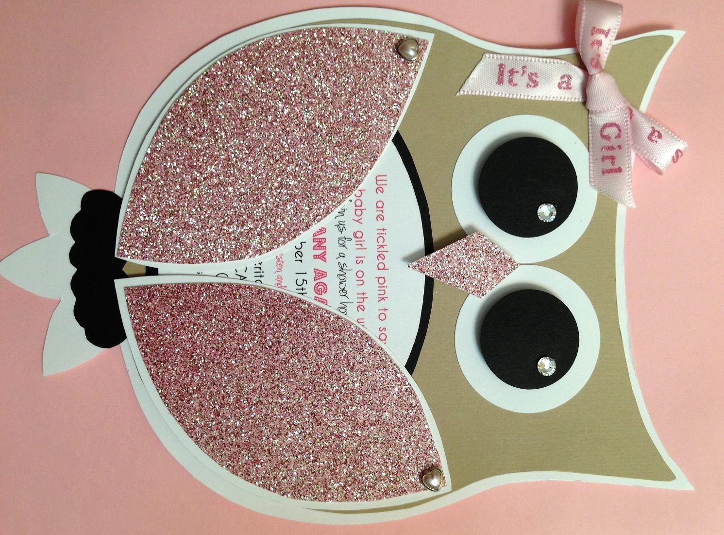 Owl Template for Baby Shower Best Of Diy Girl Owl Baby Shower Invites Time Consuming but so