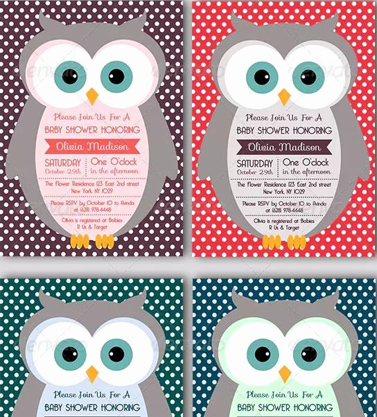 Owl Template for Baby Shower Elegant 7 Printable Owl Baby Shower Invitation Templates Texty Cafe