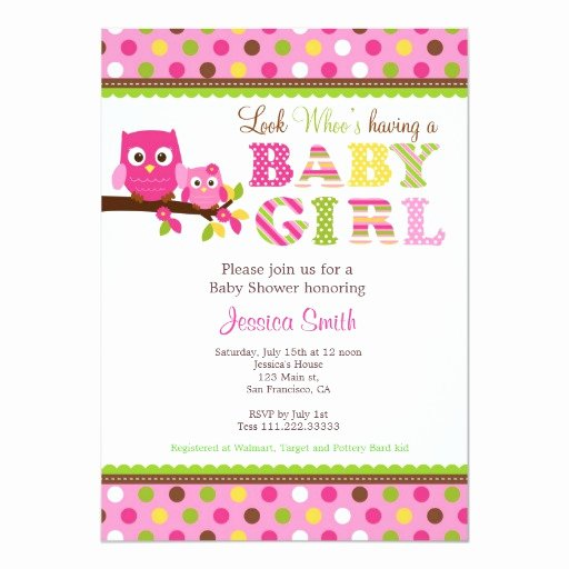 Owl Template for Baby Shower Elegant Owl Baby Shower Invitation