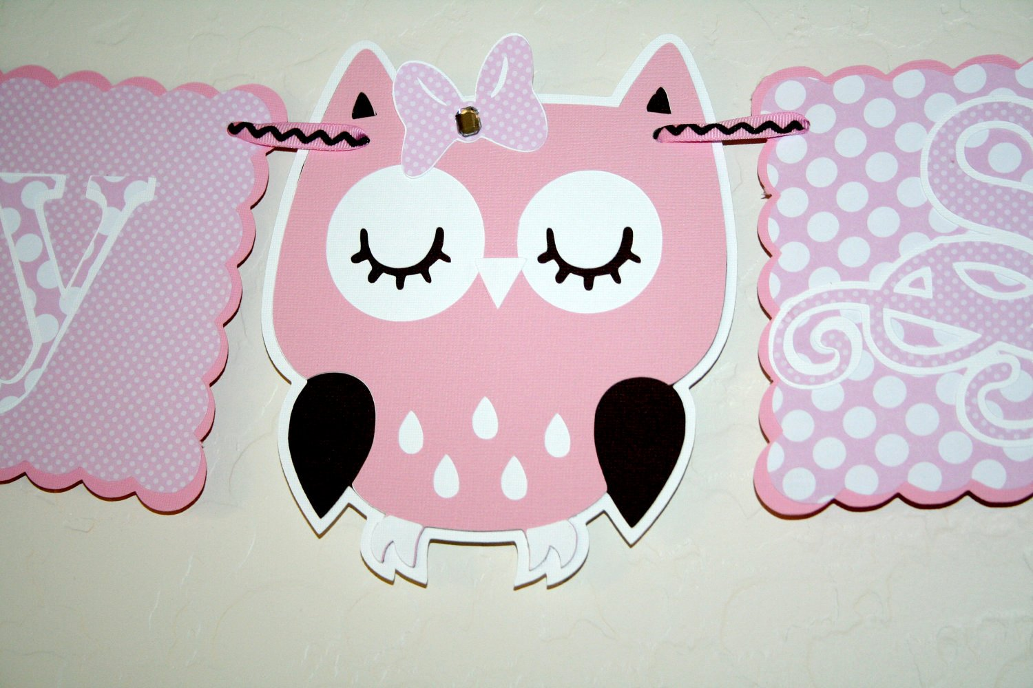 Owl Template for Baby Shower Fresh Owl Baby Shower Banner Pink Polka Dots New Baby Party
