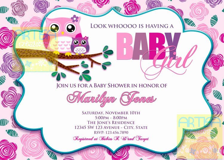 Owl Template for Baby Shower Lovely Owls Baby Shower Mad Lib Pink Owl Baby Shower by