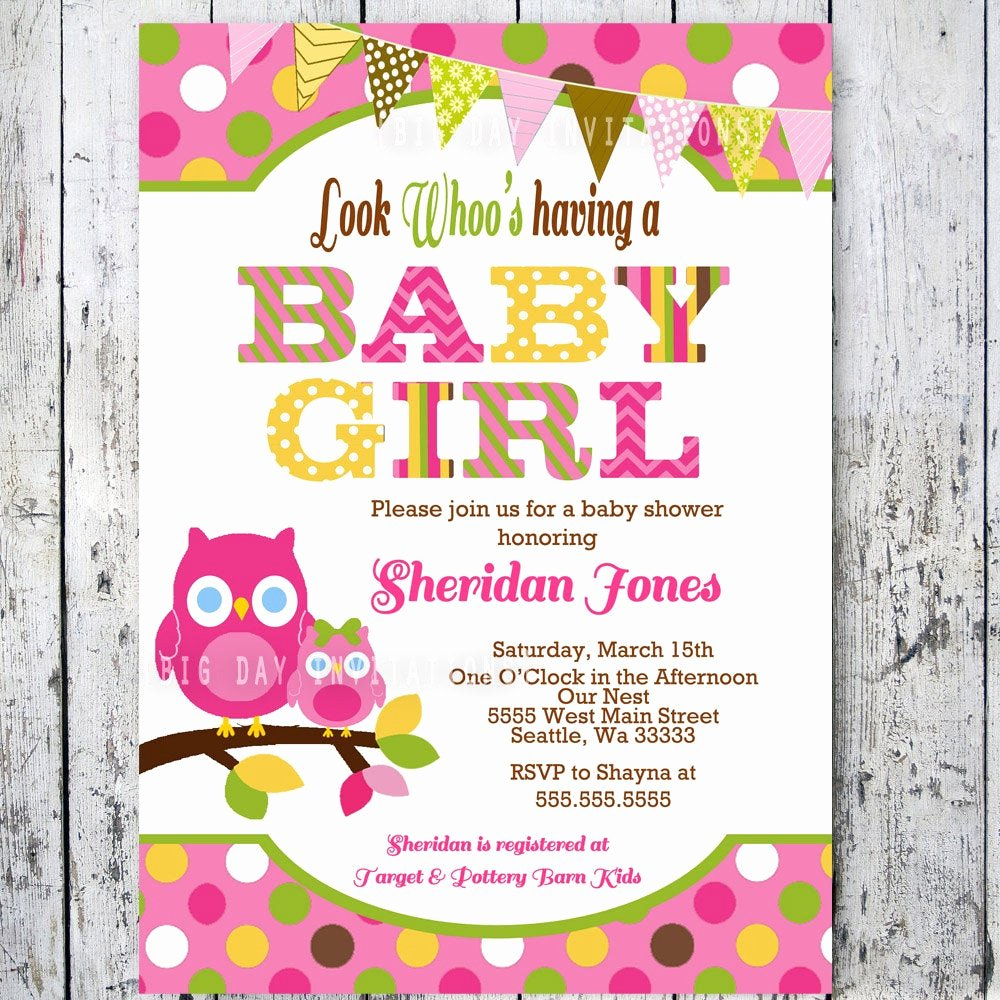 Owl Template for Baby Shower New Owl Baby Shower Invitations Baby Shower by Bigdayinvitations