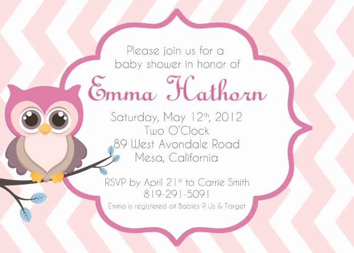 Owl Template for Baby Shower Unique Baby Owl Invitations Clipart Clipart Suggest