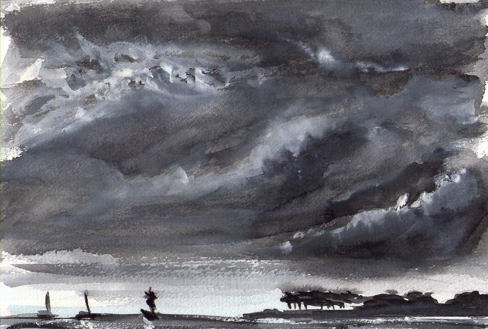 Paintings Black and White Awesome Watercolour Painting Black and White Mood