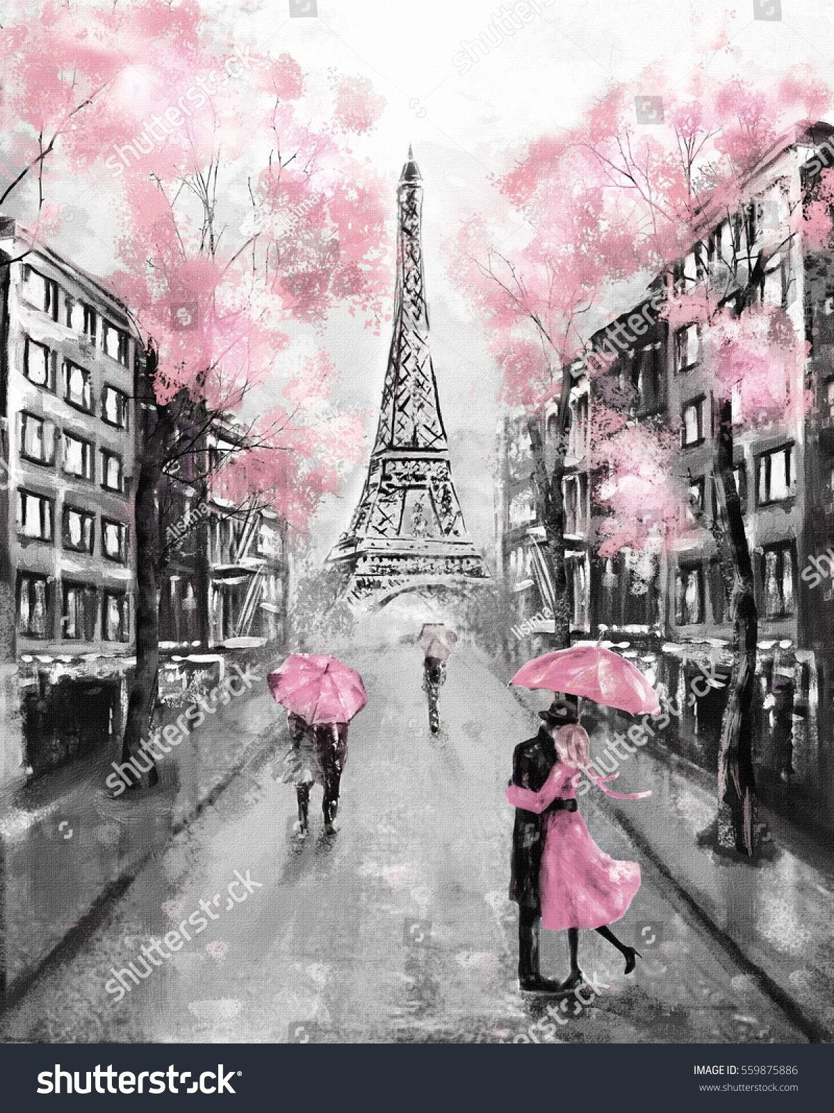 Paintings Black and White Best Of Oil Painting Paris European City Landscape France