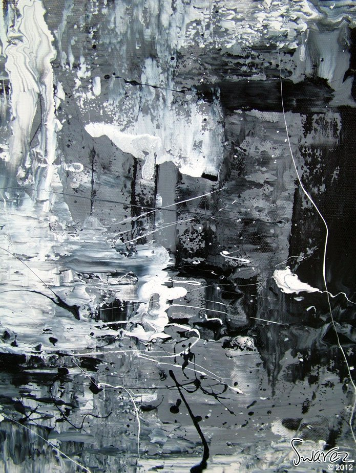 Paintings Black and White Elegant Black and White Abstract Art