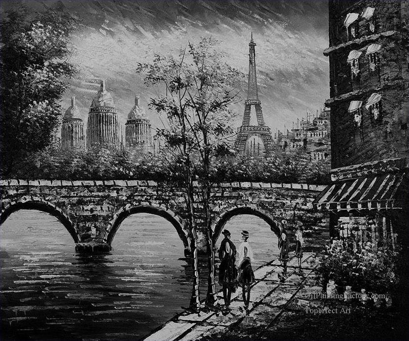 Paintings Black and White Fresh Oil Paintings Of 1 Black and White Eiffel tower Black and