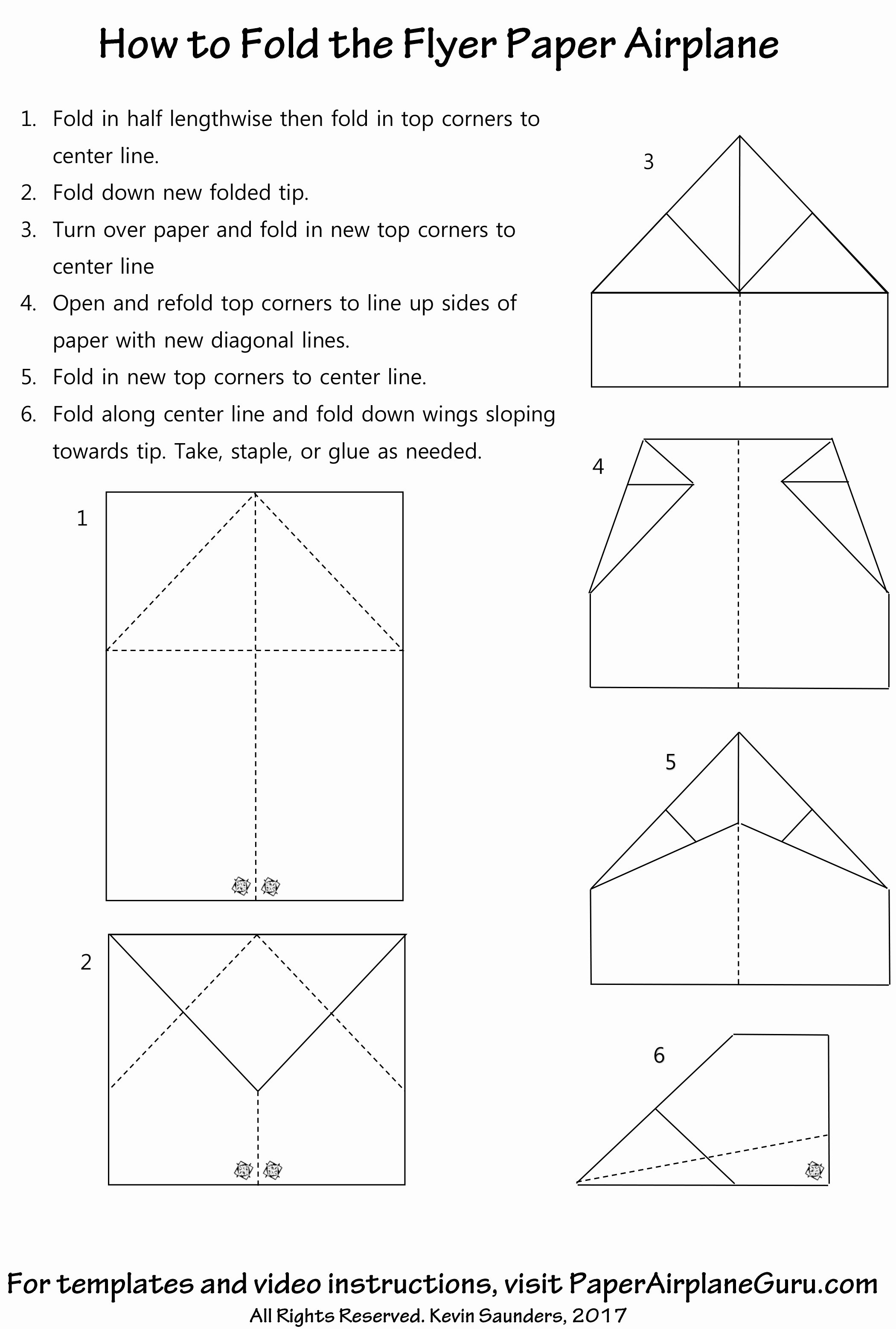 Paper Airplane Template Best Of Flyer Paper Airplane Design Instructions and Templates