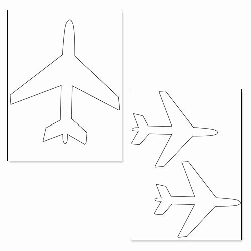 Paper Airplane Template Best Of Printable Airplane Shapes From Printabletreats
