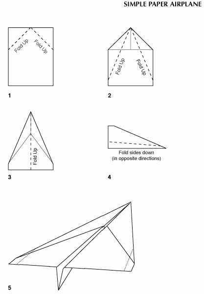 Paper Airplane Template Elegant Basic Paper Airplane Required Knowledge
