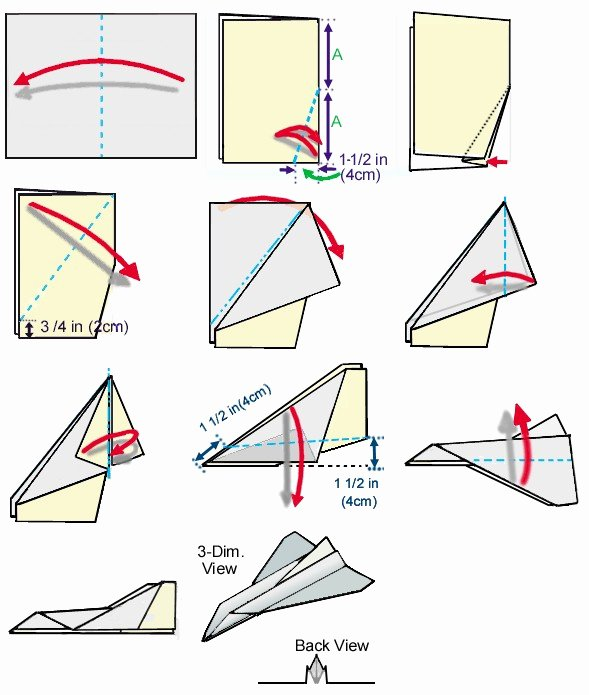 Paper Airplane Template Elegant Space Shuttle Paper Airplane