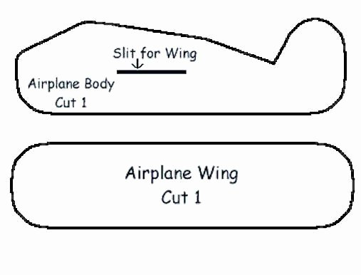Paper Airplane Template Elegant Styrofoam Airplane Craft