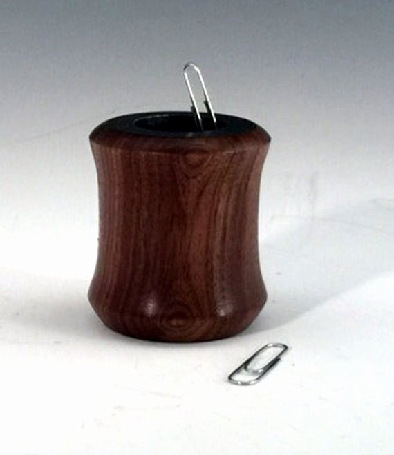 Paper Clip Holder Magnetic Awesome Wood Paper Clip Holder Walnut W Magnet Magnetic Paperclip
