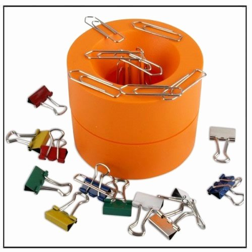Paper Clip Holder Magnetic Beautiful orange Magnetic Paper Clip Holder Dispenser Magnets by