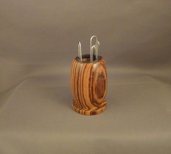 Paper Clip Holder Magnetic Best Of Paper Clip Holder Magnetic Zebrawood by Dananddeedesigns