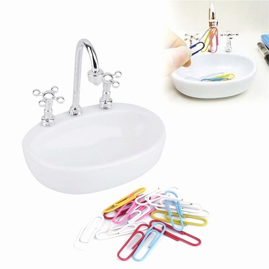 Paper Clip Holder Magnetic Lovely Unique Magnetic Wash Basin Shape Paper Clip Drip Holder
