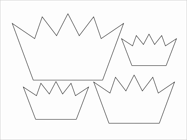 Paper Crown Cut Outs Awesome Crown Template 11 Download Documents In Pdf