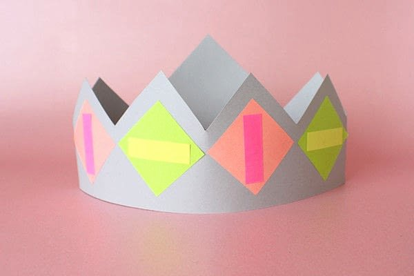 Paper Crown Cut Outs Elegant Paper Crown Making Activity · How to Make A Tiara Crown