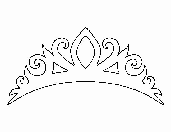 Paper Crown Cut Outs Fresh Tiara Pattern Use the Printable Outline for Crafts