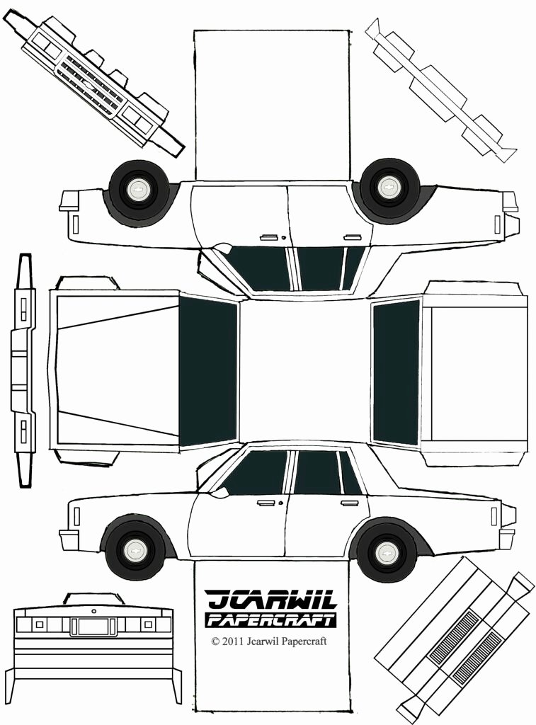 Paper Cut Out Cars Beautiful Jcarwil Papercraft 85 Chevy Impala