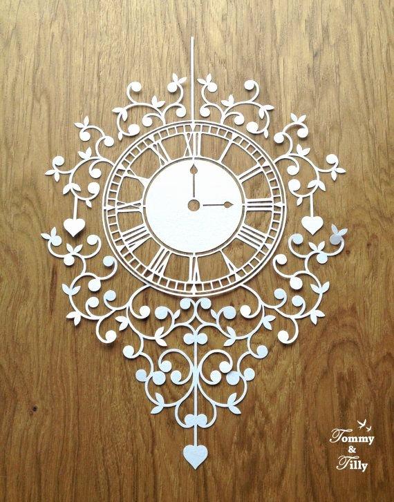 Paper Cutting Art Templates Inspirational Clock Papercut Template Machine Cut