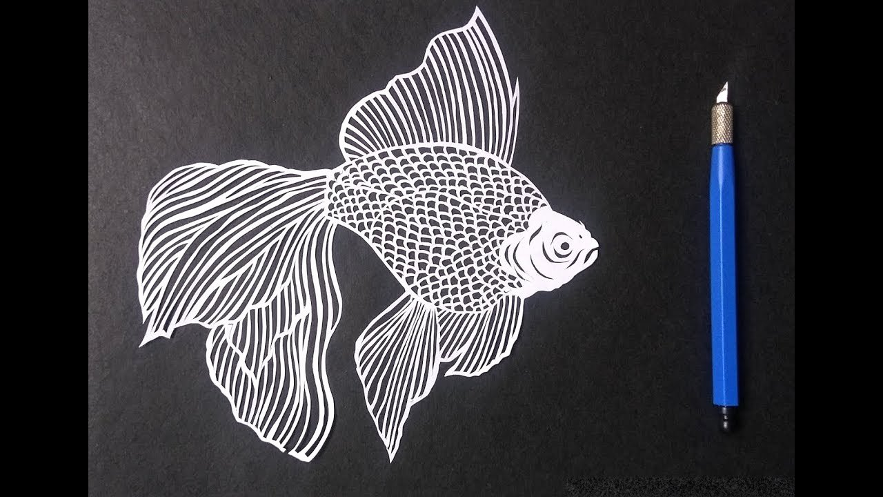 Paper Cutting Art Templates Inspirational How to Draw A Fish by Paper Cutting