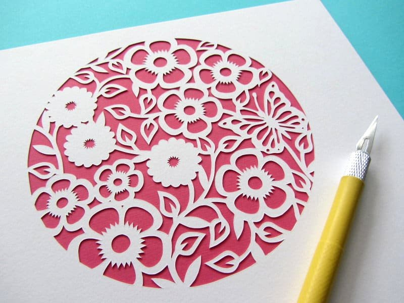 Paper Cutting Art Templates Inspirational Super Easy Paper Cutting Tutorial Perfect for Beginners