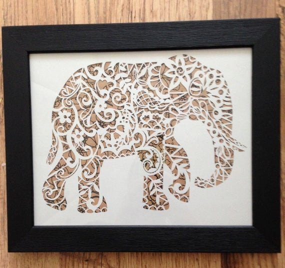 Paper Cutting Art Templates Luxury Items Similar to Mercial Elephant Papercut Template