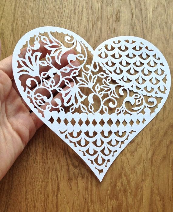 Paper Cutting Art Templates Luxury Pattern Heart Papercutting Template to от