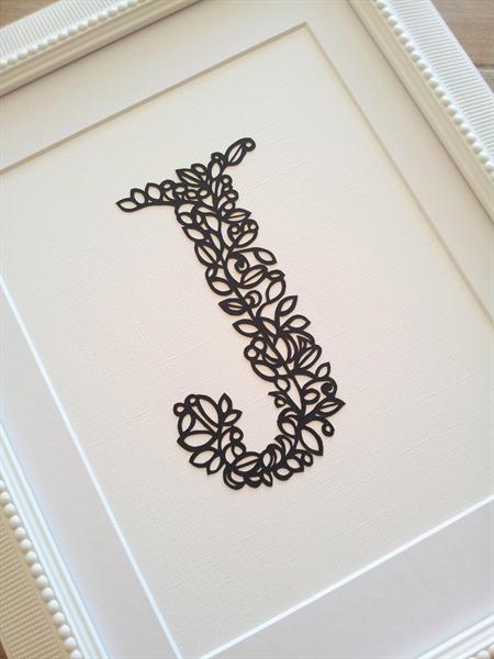 Paper Cutting Art Templates New Papercut Monogram Letter by Papercut Artist Rochelle