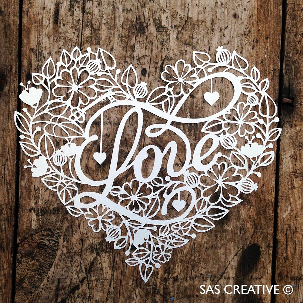 Paper Cutting Designs Template Awesome Sas Creative Love Papercutting Template