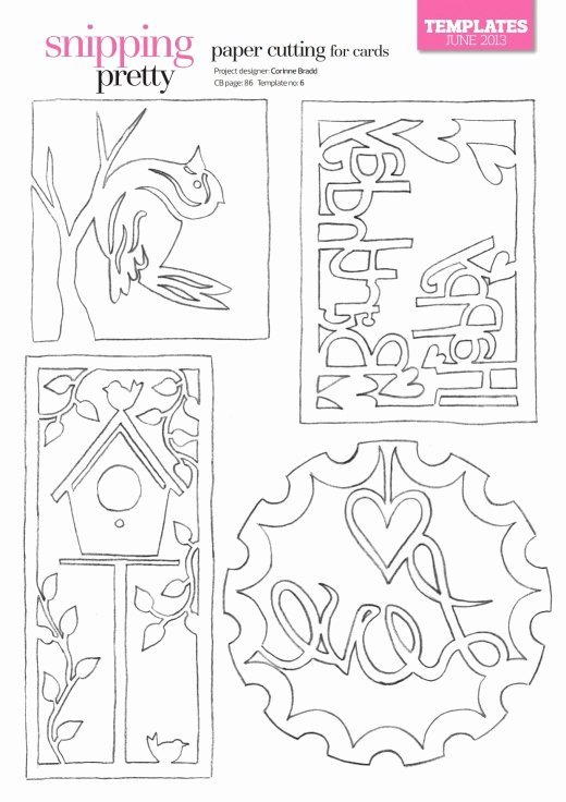 Paper Cutting Designs Template Beautiful Paper Cutting for Cards Free Card Making Downloads