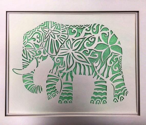 Paper Cutting Designs Template Fresh Elephant Paper Cut