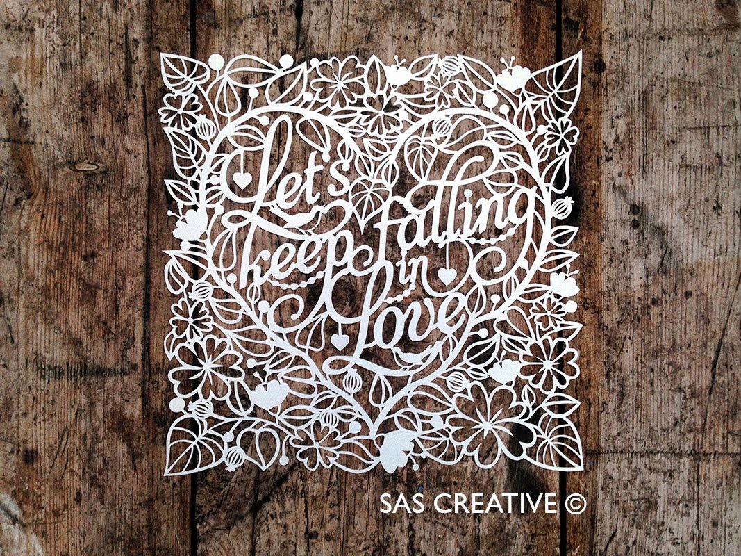 Paper Cutting Designs Template Inspirational Sas Creative Let S Keep Falling In Love Papercut Template