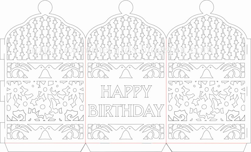 Paper Cutting Designs Template Luxury Happy Birthday Paper Cut Lantern Tutorial