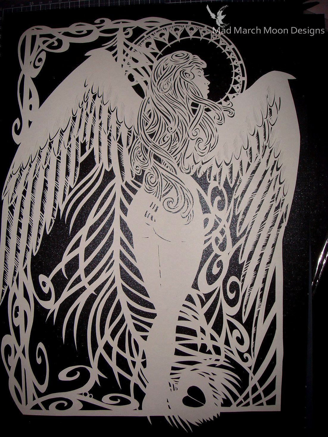 Paper Cutting Designs Template New Angel Papercut Template Personal Use Template Pdf