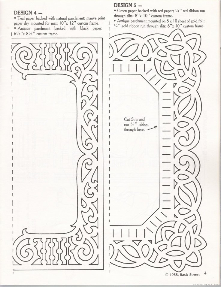 Paper Cutting Designs Template New Paper Cut Frame Template Paper Cutters