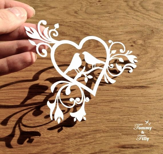 Paper Cutting Designs Template Unique Diy Papercut Love Birds Heart Design with Permission to