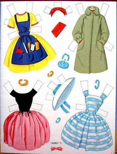Paper Doll Cut Outs Awesome ॣ•͈ᴗ•͈ ॣ ♡ Barbie Cut Outs