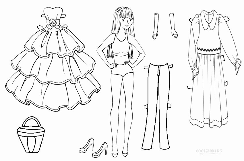 Paper Doll Cut Outs Beautiful Free Printable Paper Doll Templates