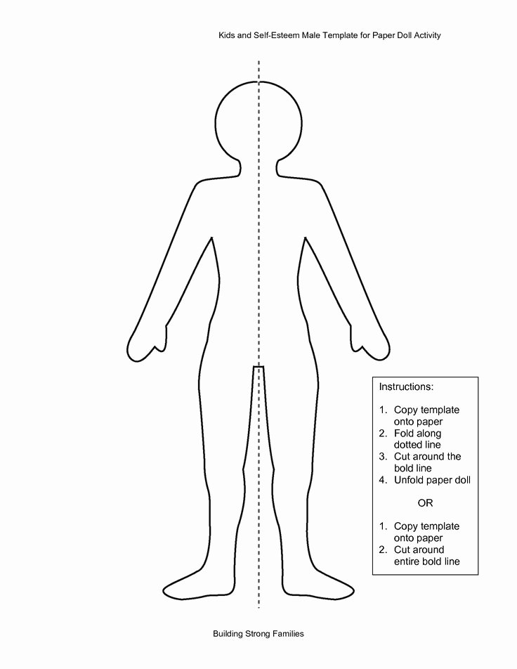 Paper Doll Cut Outs Beautiful Paper Doll Template