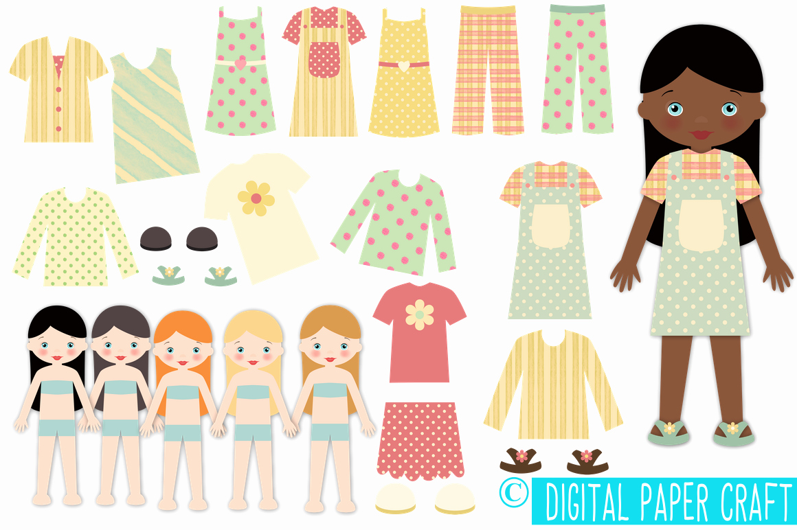 Paper Doll Cut Outs Best Of Paper Doll Digital Paper Doll Cut Out Doll Printable