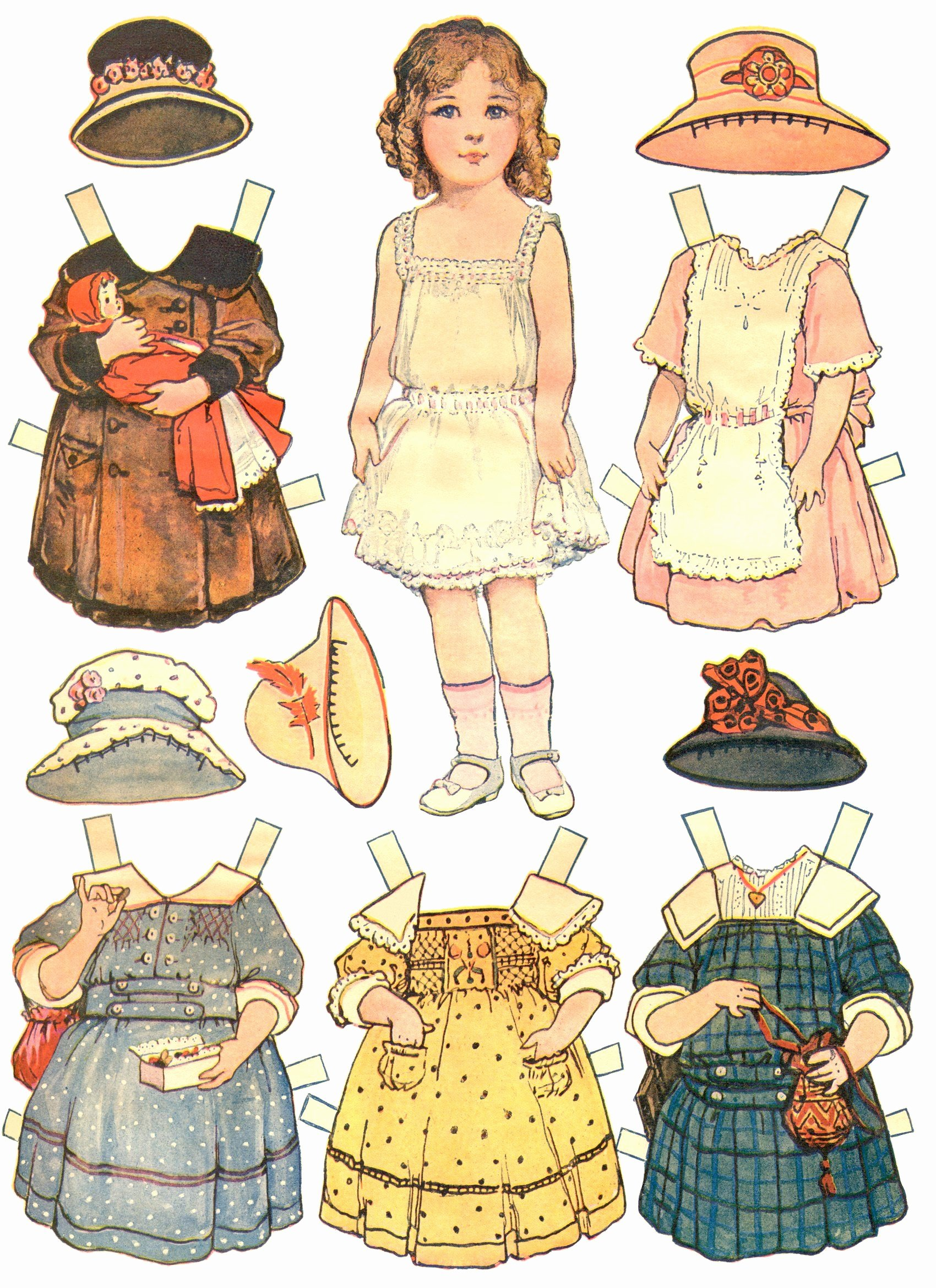 Paper Doll Cut Outs Fresh Paper Dolls and Paper Doll Dresses – Printable From Kid