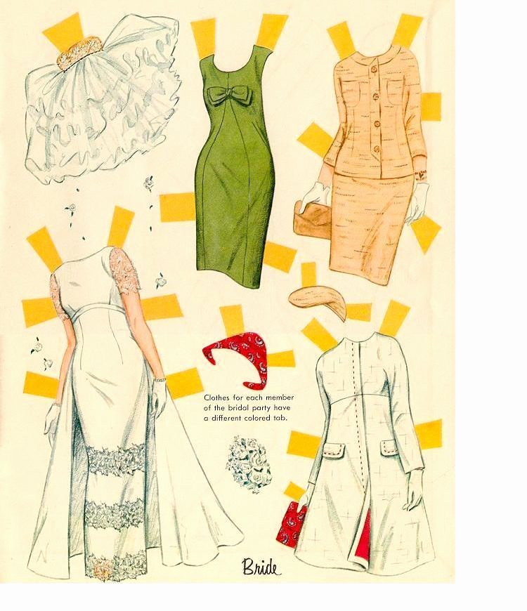 Paper Doll Cut Outs Inspirational Miss Missy Paper Dolls Bridal Cutouts